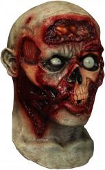 Volledig geanimeerd zombie masker voor volwassenen