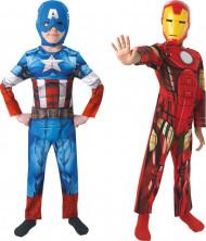Duo kostuum van Captain America™ en Iron Man™ voor jongens