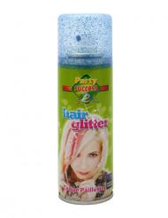 Blauwe haar lak met glitters 125 ml