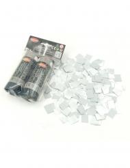 Set van 2 zilverkleurige confetti kanonnen