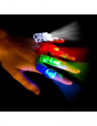 Set van 4 led vingerlichtjes
