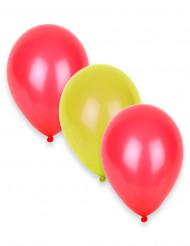 Set van 12 supporter ballonnen Spanje