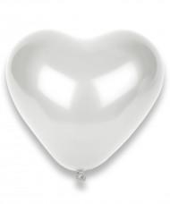 Set van 100 witte hartjes ballonnen