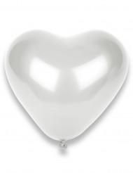 Set van 50 witte hartjes ballonnen