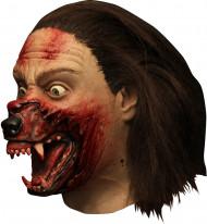 Halloween masker van Hemlock Groce™ weerwolf