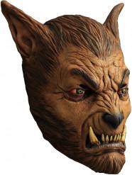 Bruine weerwolf masker voor volwassenen