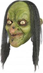 Groene heks masker voor volwassenen