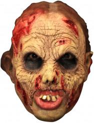 Bebloede zombie masker met gebit voor volwassenen