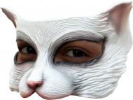 Halfmasker witte kat