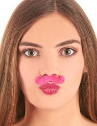 Roze snor voor volwassenen