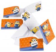 Set van Minions™ uitnodigingen en enveloppen