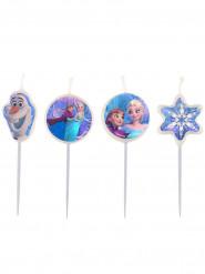 Set Frozen™ verjaardagskaarsjes 9 cm