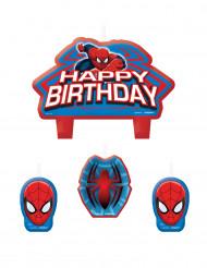 4 Spiderman™ verjaardag kaarsjes
