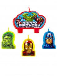 4 verjaardag kaarsen van The Avengers ™