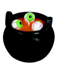 Kaars met ogen in ketel Halloween