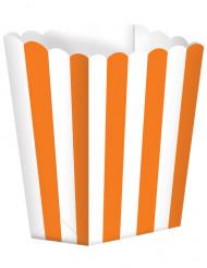 Set 5 oranje popcorn bakjes
