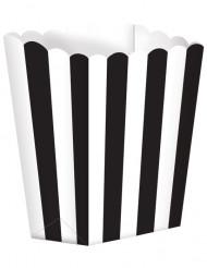 5 zwart-witte popcorn bakken
