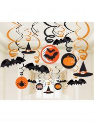 Set van 30 Halloween spiraal versieringen