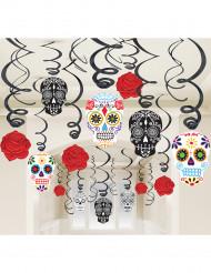 30 doodskop spiraaldecoraties