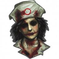 Muurversiering zombie verpleegster Halloween
