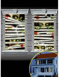 Set zombie raamversieringen Halloween