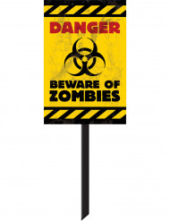 Zombie waarschuwingsbord Halloween