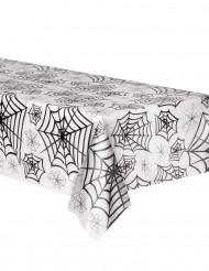 Halloween tafelkleed met zwarte spinnenwebben