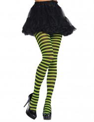 Groen en zwart gestreepte legging voor volwassenen