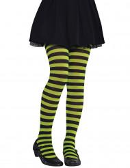 Groen-zwart panty voor kinderen