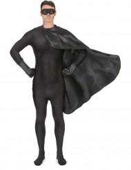 Zwarte superhelden set voor volwassenen