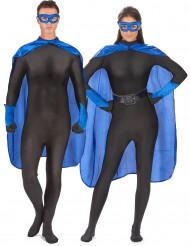 Blauwe superhelden kit voor volwassenen