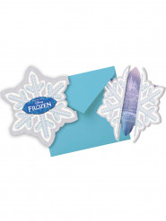 Set van Frozen™ uitnodigingen en enveloppen