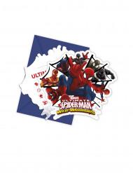 Set van 6 Spiderman™ uitnodigingen