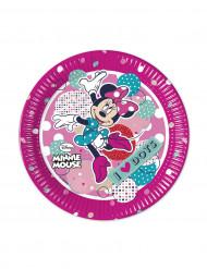 8 kleine kartonnen Minnie™ borden 20 cm