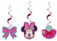 3 spiraal decoraties Minnie™ 70 cm