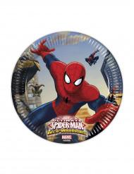 8 kartonnen Spiderman™ borden 20 cm