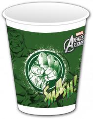 8 groene plastic Avengers™ bekers