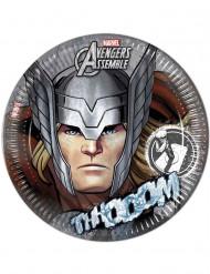 8 grijze borden Avengers™ 23 cm
