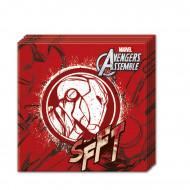 20 rode papieren Avengers™ servetten