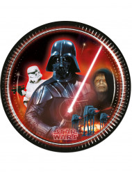 8 kartonnen Darth Vader borden 23 cm - Star Wars™
