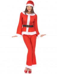 Witte en rode kerstvrouw outfit voor vrouwen