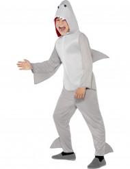 Klein grijs haaien kostuum voor kinderen