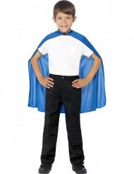 Blauwe cape voor kinderen