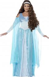 Blauwe middeleeuwse prinsessen kostuum voor vrouwen
