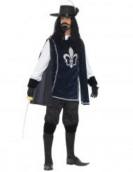 Blauwe musketiers kostuum voor mannen