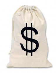 Beige dollar zak van stof