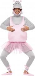Nijlpaard ballerina humoristische pak voor volwassenen
