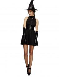Sexy zwarte heks kostuum voor vrouwen Halloween