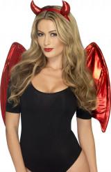 Rode duivel set voor vrouwen Halloween