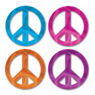 Set van 8 mini versieringen Peace